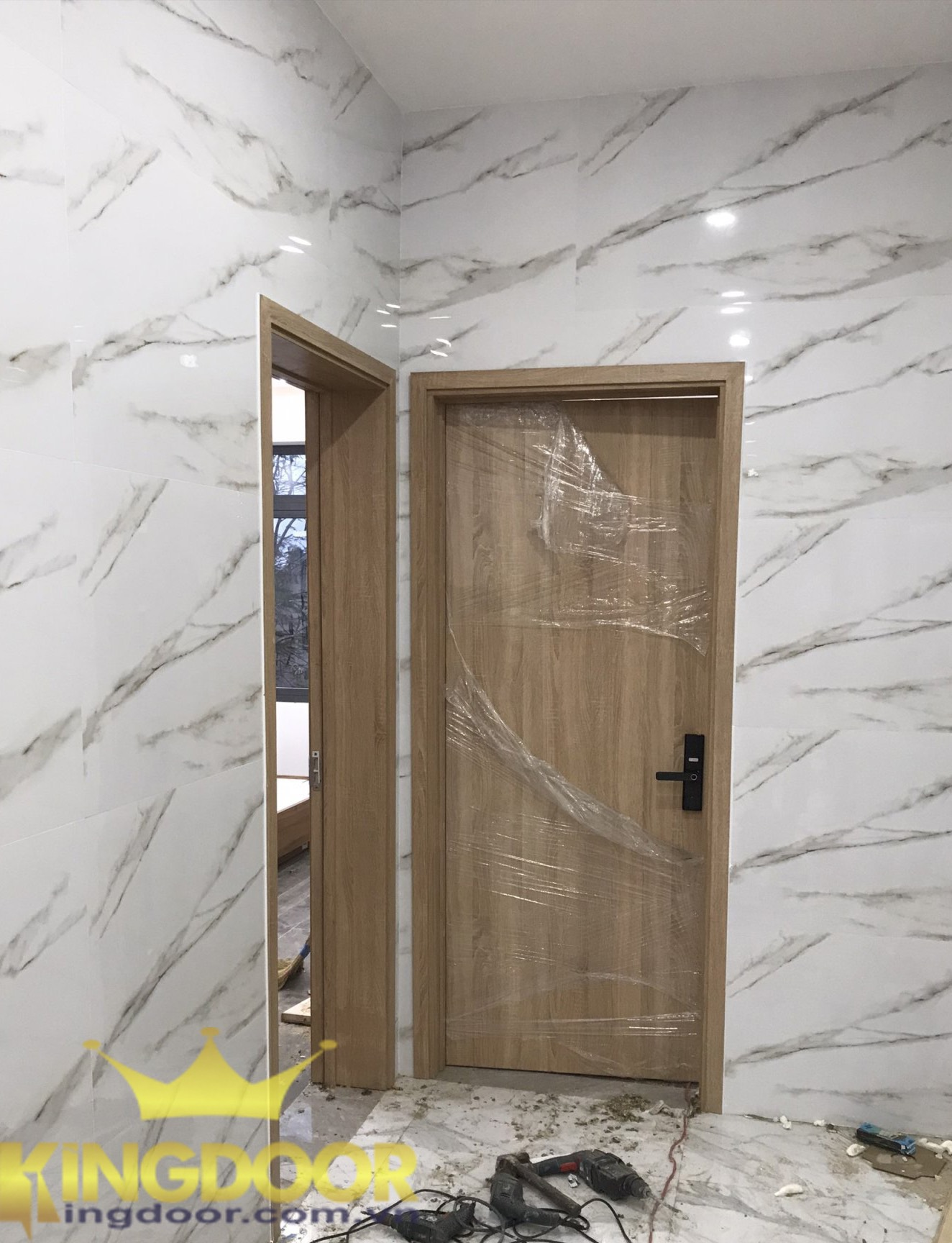 Mẫu cửa gỗ công nghiệp MDF Melamine - cửa gỗ phòng ngủ giá rẻ.