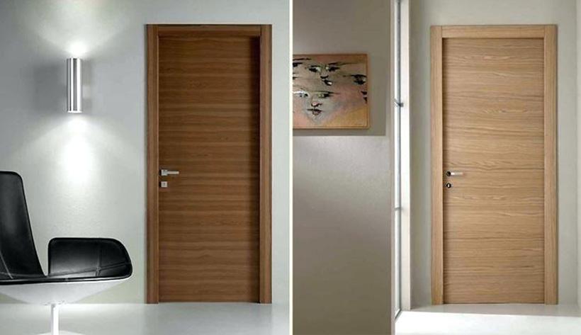 Mẫu cửa gỗ công nghiệp MDF dành cho phòng ngủ.