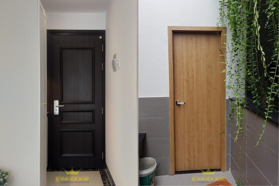 Mẫu cửa nhựa giả gỗ Composite - Nên dùng cửa nhựa hay cửa gỗ.
