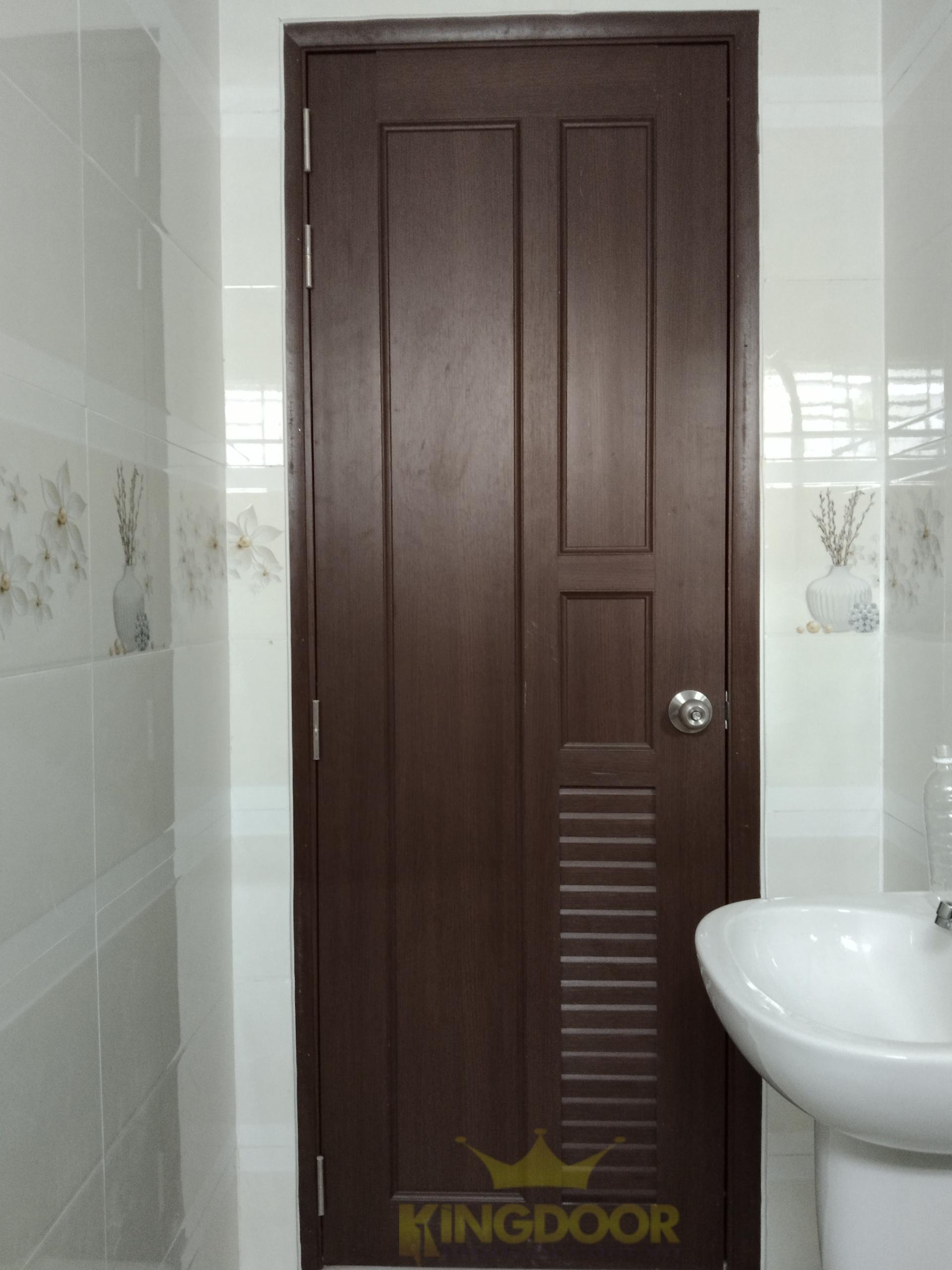Mẫu cửa nhựa nhà vệ sinh đẹp, bền , rẻ.
