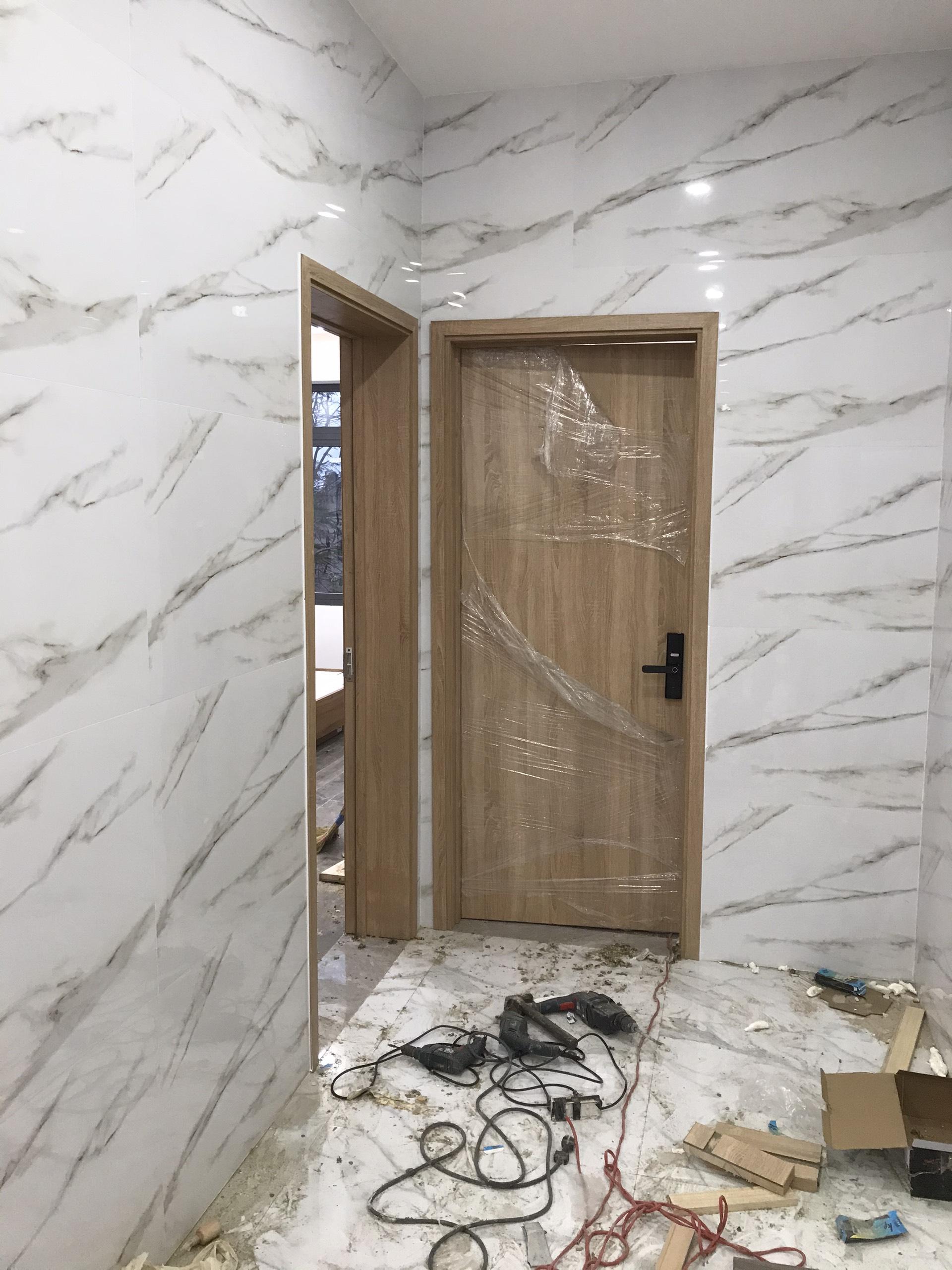 Mẫu cửa gỗ công nghiệp MDF MELAMINE - Cửa gỗ phòng ngủ hiện đại.