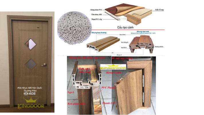 Giá cửa nhựa ABS Hàn Quốc tại Thủ Đức - Cửa nhựa giả gỗ giá rẻ - 4