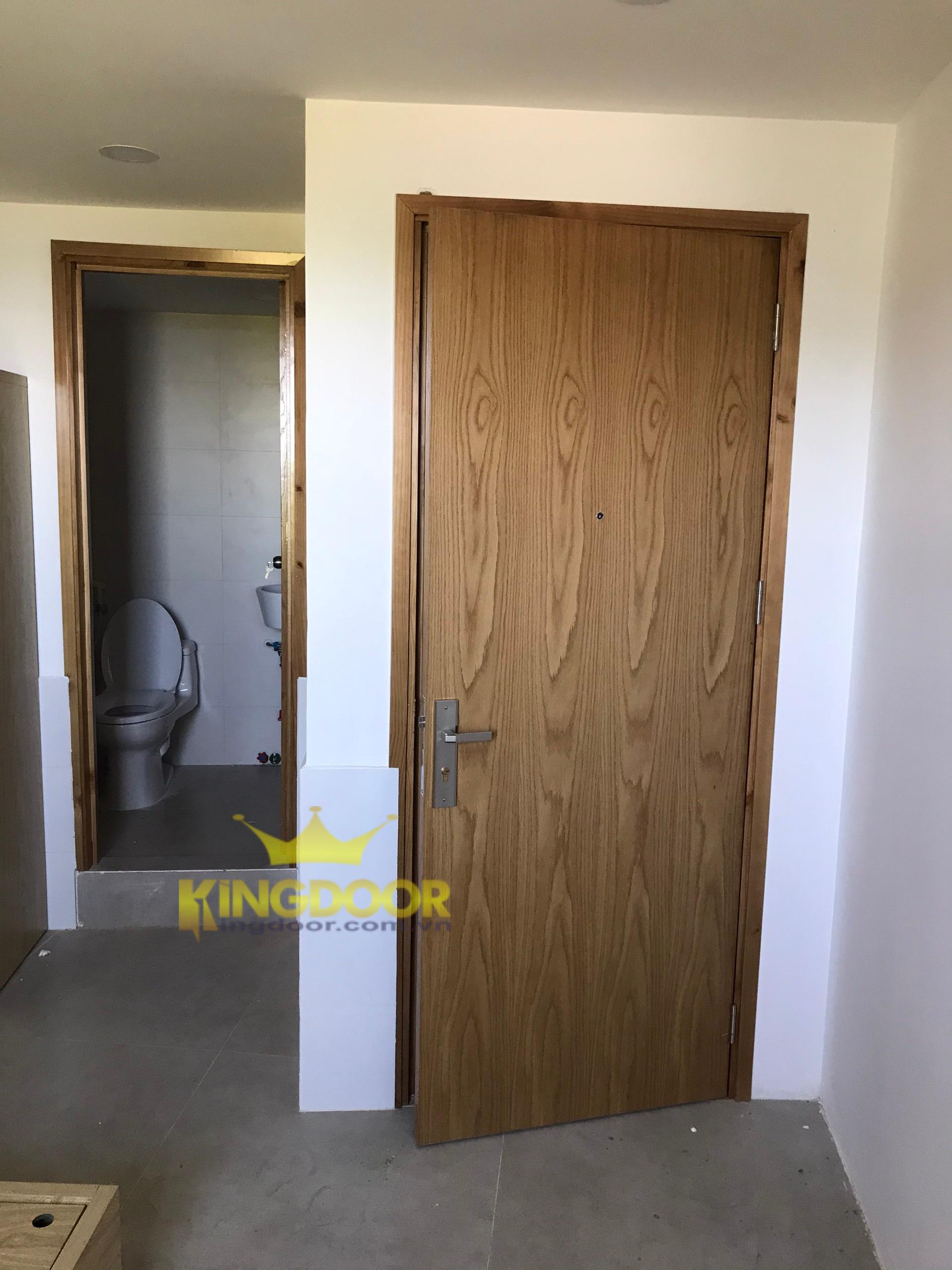 Mẫu cửa gỗ công nghiệp MDF VENEER - Cửa gỗ phòng ngủ đẹp.