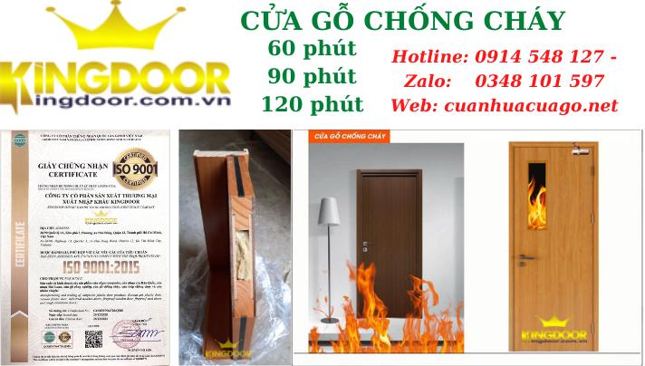 Giá cửa gỗ chống cháy tại Nha Trang - Cửa thoát hiểm KINGDOOR